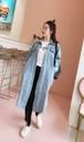 デニムロングジャケット スプリングコート ジーンズ 長袖 ロングシャツ 3色 ブルー ブラック 大きいサイズ レディース アウター