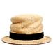 [curione] twiddle silk raffia hat