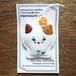 刺繍ブローチ/きのこネコ