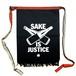 【前掛け】SAKE IS JUSTICE / 紺