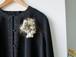 帯を裂いたコサージュ・ヘッドドレス『織織花』