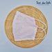 【薄ピンク】花柄レース×麻/通気性の良い布マスク(※洗って繰り返し使用できます!)