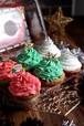 低糖質クリスマスカップケーキ(6個入り)Keto Christmas Cupcakes