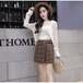韓国♡チェック台形スカート