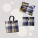 カラフルカゴバッグ/ メルカドバッグ 留め具付 ハンドバッグタイプ 全3色