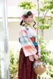 【一点物】多摩織 × 重宗玉緒 正絹カツオ縞紬着物