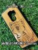 Type-A スマホケース 木製 天然木 チーク材 おしゃれ iPhone android エスニック アジア タイ 一点物 個性 ウッド 男女兼用 ユニバーサルデザイン Pattern: ねこ(A)
