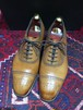 .OLD EDWARD GREEN ASQUITH LEATHER BLOGUE SHOES MADE IN ENGLAND/オールドエドワードグリーンセミブローグシューズ 2000000032535