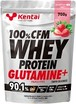 kentai 健康体力研究所 100%CFMホエイプロテイングルタミン デリシャスストロベリー K0222 700g