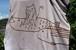 草木染、梅の木染め、絞り染め 綿100 猫と魚 長袖Tシャツ 男性用ⅩLサイズ 手描きイラスト セール価格