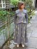 WOMENS:LILOU+LILY【リルアンドリリー】MIGRATORY BIRD GATHER SKIRT(グレー/ワンサイズ38のみ)渡り鳥刺繍ギャザースカート