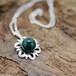Bloom セラドナイトのお花ネックレス