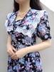 Sailor collar floral dress/セーラーカラーの花柄ワンピース
