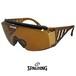 SPALDING オーバーグラス スポルディング サングラス 眼鏡の上からかけられる サングラス spo107-b ブラウン サイドガード アイガード