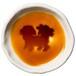 シーズーのシルエットが浮かぶお醤油小皿(丸)