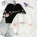 レディース オシャレ 可愛い ラウンドネック 半袖 刺繍 花柄 カラーブロック Tシャツ・トップス
