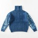 MODESTY INDUSTRY INDIGO DYE TURTLE CABLE KNIT