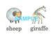 Animals(2)絵+英単語 フラッシュカードデータ(カラー)