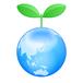 地球 新芽 イラスト(背景白)