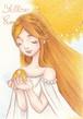 黄色い太陽女の子のハガキ