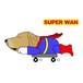 Superwanステッカー 【ゴールデンレトリバー】 犬 ステッカー シール