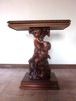 イタリア製手彫彫刻花台 送料込