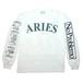 Aries Warriors LS Tee White
