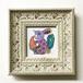 人参を食べるウサギ/絵画 ペン画
