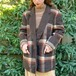 (LOOK) wool mix check jacket
