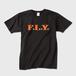 F.L.Y. Crew-Neck T (黒×オレンジ)