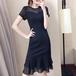 【dress】女子力アップ着痩せ着回し最強シンプルデートワンピース N-0110
