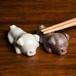 パグ 陶器の箸置き(ペア)