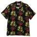 """BLACK PANTHER CAFE ALOHA SHIRT "" REMASTER "" (BLACK) / RUDE GALLERY"