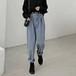 韓国 秋 新作 カジュアル 着やせ ファッション 9分 人気 パンツ・ボトムス
