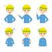 男性 建設業者 表情 ポーズ