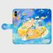 【L】碧の島/手帳型スマホケース6Plus/6sPlus/7Plus/8/8Plus/XR/XS Max、AndroidLサイズ(151mm〜