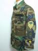 1980's U.S.AIR FORCE 袖ワッペンカスタム ウッドランドカモBDUジャケット 表記(XS-SHORT) カバーオール