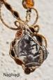 Garden quartz  silverwire micromacrame design necklace