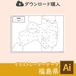 福島県の白地図データ