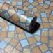 RUDOSTYLE 壁紙 タイル クロス はがせる 防水 壁紙シール 超簡単リフォーム 45cm×10m (タイル調 オレンジ)
