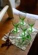 イギリス グリーン リキュールグラス シェリーグラス グラス