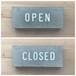 OPEN & CLOSED 置き型 サイン type-A