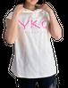 【YKG】フード付きタンクトップ【ホワイト】【新作】イタリアンウェア《M&W》