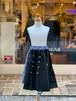 KIDS:UNICA【ユニカ】ギンガムチェック切替アシンメトリーロングスカート(ブラック/100〜140cm)