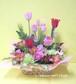 【送料無料】【愛妻の日】チューリップと季節のお花のフラワーアレンジメント(生花) FL-IS-06
