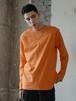 シンプルコットンロングTシャツ