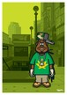 《山本周司 イラストポストカード》CY-1/ レゲエの男