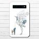 #081-026 モバイルバッテリー おすすめ iPhone Android かわいい おしゃれ 男性 向け 鶴 イラスト スマホ 充電器 タイトル:精霊鳥~かえしてくれない~ 作:嘉村ギミ
