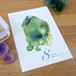 Post card / 誕生石シリーズ 8月 Peridot(ペリドット/橄欖石)