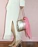 vintage silver/gold reversible bag